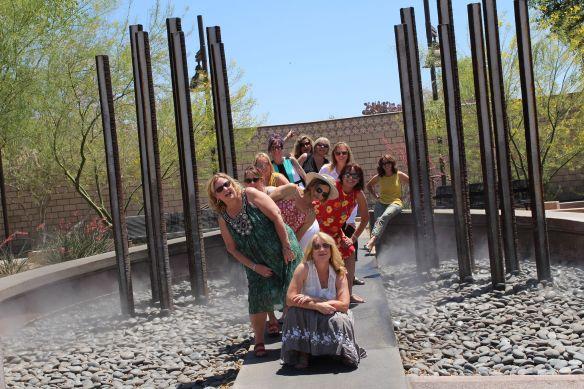 group at horseshoe falls