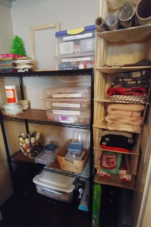 craft supplies closet